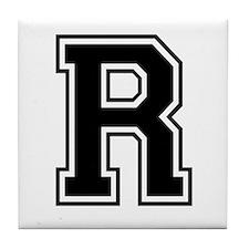 Varsity Letter R Tile Coaster