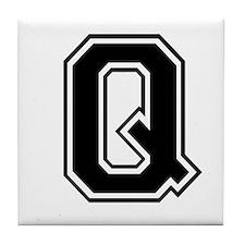 Varsity Letter Q Tile Coaster