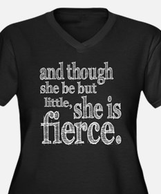 She is Fierce Shakespeare Women's Plus Size V-Neck