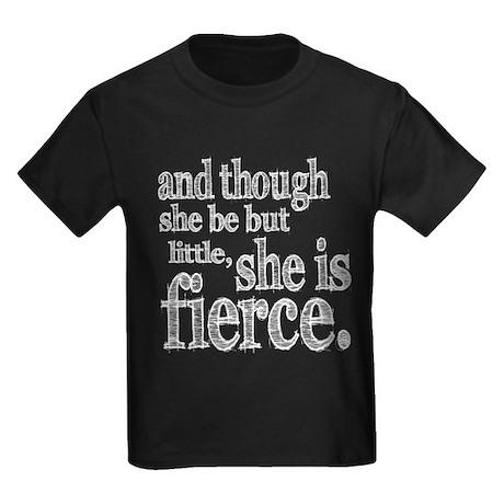 She is Fierce Shakespeare Kids Dark T-Shirt