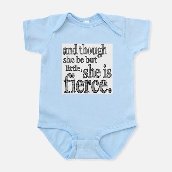 She is Fierce Shakespeare Infant Bodysuit