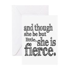 She is Fierce Shakespeare Greeting Card