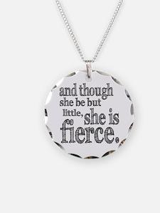 She is Fierce Shakespeare Necklace