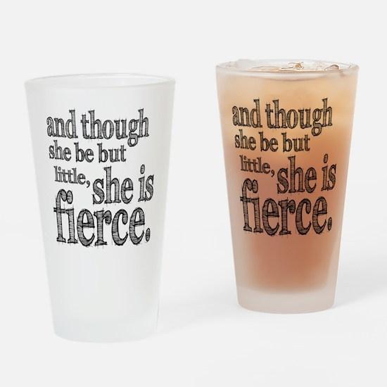 She is Fierce Shakespeare Drinking Glass