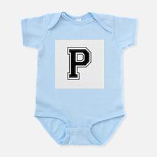 Varsity Letter P Infant Creeper