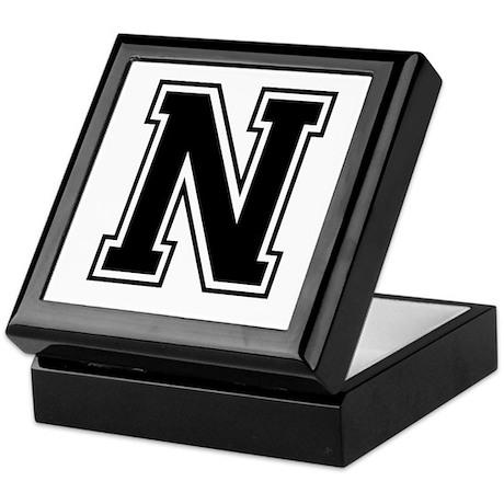 Varsity Letter N Keepsake Box