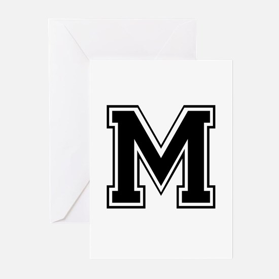 Varsity Letter M Greeting Cards (Pk of 10)