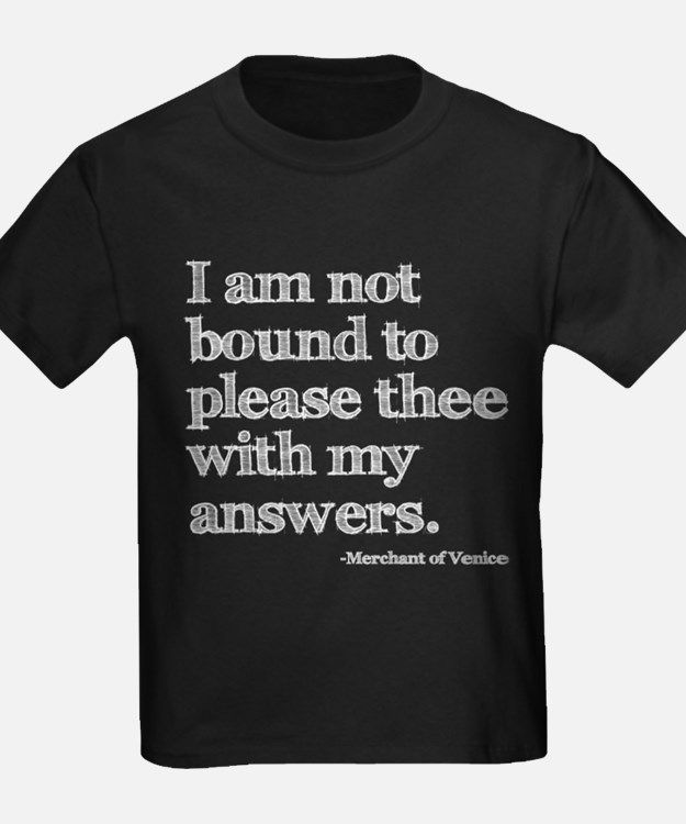 Not Bound to Please Shakespeare T