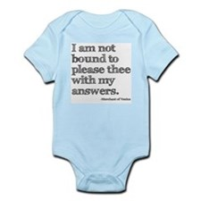 Not Bound to Please Shakespeare Infant Bodysuit