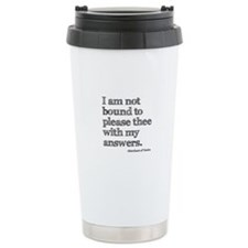 Not Bound to Please Shakespeare Thermos Mug