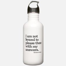 Not Bound to Please Shakespeare Water Bottle