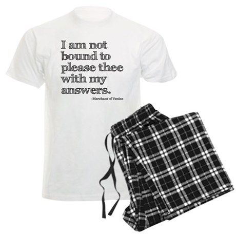 Not Bound to Please Shakespeare Men's Light Pajama