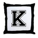 Monogram k Throw Pillows