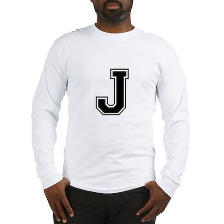 Varsity Letter J Long Sleeve T-Shirt