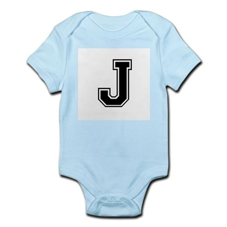 Varsity Letter J Infant Creeper
