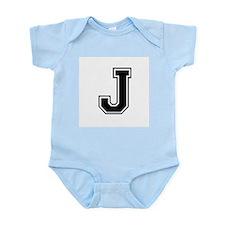 Varsity Letter J Infant Creeper
