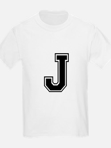 Varsity Letter J Kids T-Shirt