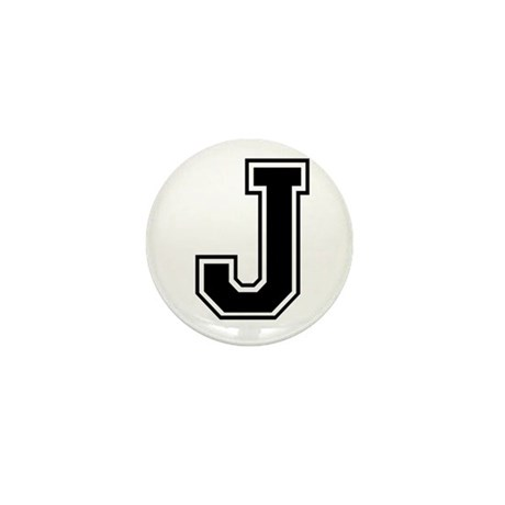 Varsity Letter J Mini Button
