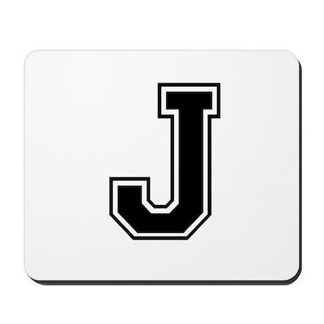 Varsity Letter J Mousepad