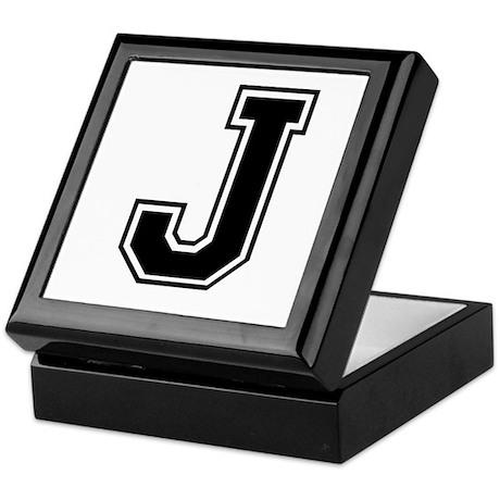 Varsity Letter J Keepsake Box