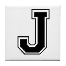 Varsity Letter J Tile Coaster