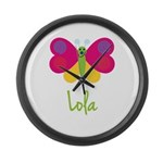 Lola The Butterfly Large Wall Clock