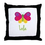 Lola The Butterfly Throw Pillow