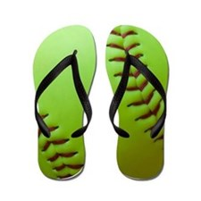 Optic Yellow Fastpitch Softball Flip Flops