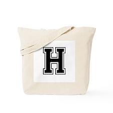 Varsity Letter H Tote Bag
