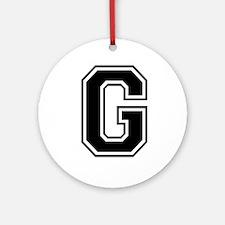Varsity Letter G Ornament (Round)