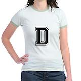 Letter d Jr. Ringer T-Shirt