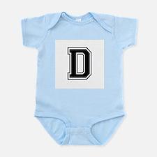Varsity Letter D Infant Creeper