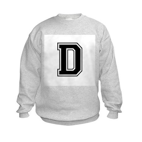 Varsity Letter D Kids Sweatshirt