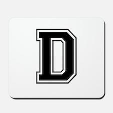 Varsity Letter D Mousepad