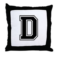 Varsity Letter D Throw Pillow