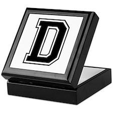Varsity Letter D Keepsake Box