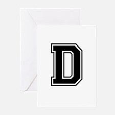 Varsity Letter D Greeting Cards (Pk of 10)