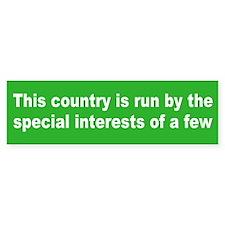 special interests... Bumper Bumper Sticker