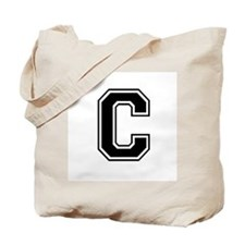 Varsity Letter C Tote Bag