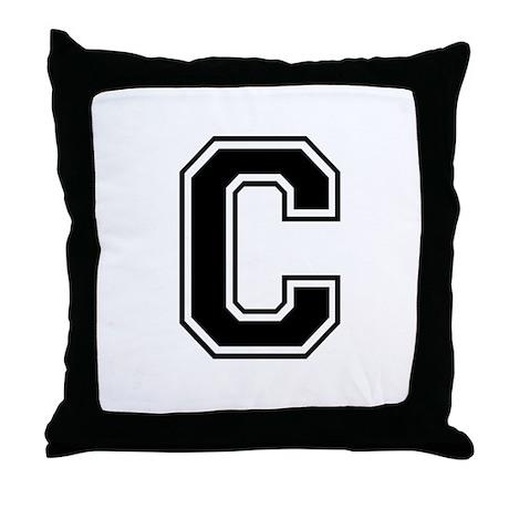 Varsity Letter C Throw Pillow