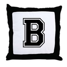 Varsity Letter B Throw Pillow