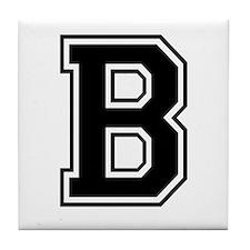 Varsity Letter B Tile Coaster