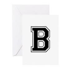 Varsity Letter B Greeting Cards (Pk of 10)