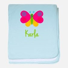 Karla The Butterfly baby blanket
