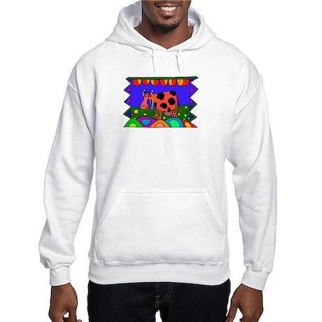 Cow Hooded Sweatshirt