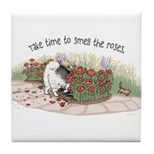 The Fuzz Butt Gardener Tile Coaster