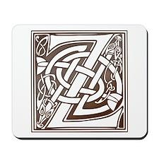 Celtic Letter Z Mousepad