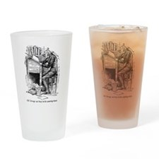 Old Scrooge Drinking Glass