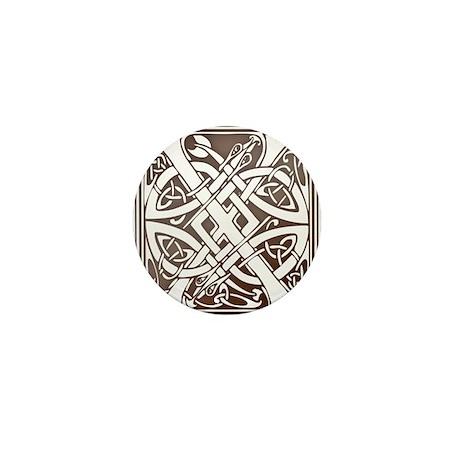 Celtic Letter X Mini Button