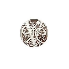 Celtic Letter V Mini Button